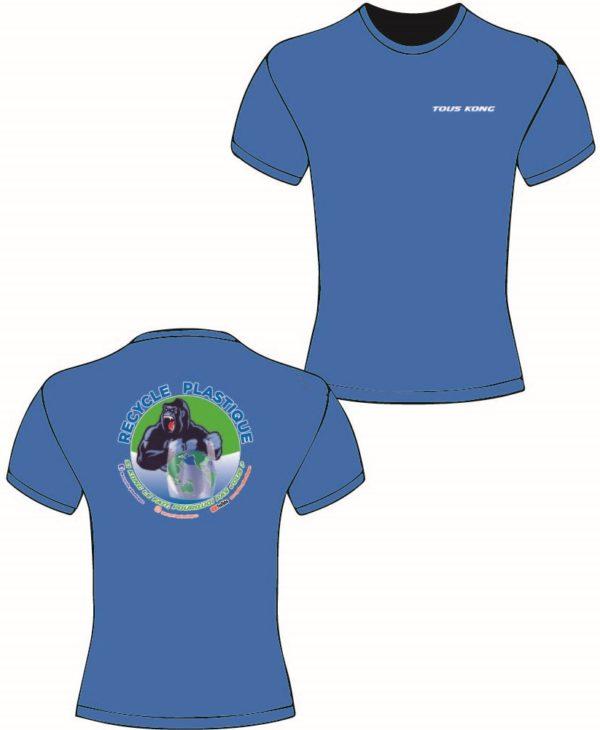 teeshirt kong bleu 600x730 - Tee-shirt Kong